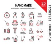 vector hand made icons set  ... | Shutterstock .eps vector #539338216
