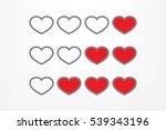 heart background | Shutterstock .eps vector #539343196