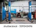 lift in a car repair station   Shutterstock . vector #539343496
