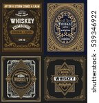 set whiskey labels. vector | Shutterstock .eps vector #539346922