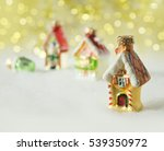 christmas decorations  vintage... | Shutterstock . vector #539350972