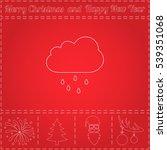 rain cloud simple flat vector...