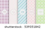 retro pastel seamless pattern... | Shutterstock .eps vector #539351842