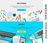set horizontal banners  flat... | Shutterstock .eps vector #539351848