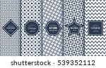 blue line seamless pattern... | Shutterstock .eps vector #539352112