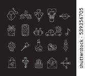 vector line icons for... | Shutterstock .eps vector #539356705