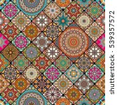 colorful vintage seamless... | Shutterstock .eps vector #539357572