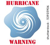 hurricane warning icon isolated ... | Shutterstock .eps vector #53935906