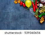 colorful delicious ingredients... | Shutterstock . vector #539360656