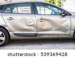 car body side damage after an... | Shutterstock . vector #539369428