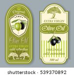 vector vintage style olive oil... | Shutterstock .eps vector #539370892