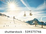 panoramic view of ski resort... | Shutterstock . vector #539375746