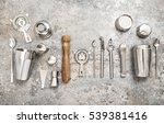 bartender equipment for making...   Shutterstock . vector #539381416