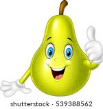 cartoon pear giving thumb up | Shutterstock .eps vector #539388562