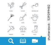 scissors  hammer and gloves... | Shutterstock .eps vector #539399482