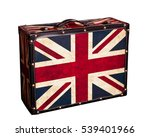 Suitcase With An British Flag...