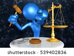 law legal concept with the... | Shutterstock . vector #539402836
