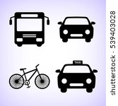 transport  icon  set | Shutterstock .eps vector #539403028
