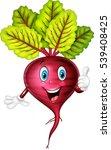 cartoon beet giving thumb up   Shutterstock .eps vector #539408425