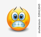 cute grinning emoticon showing... | Shutterstock .eps vector #539413045