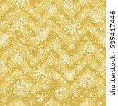 winter holiday vector golden... | Shutterstock .eps vector #539417446