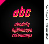 vector square alphabet simple... | Shutterstock .eps vector #539419792