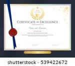 elegant certificate template... | Shutterstock .eps vector #539422672