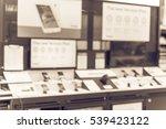 blurred variety of modern smart ... | Shutterstock . vector #539423122