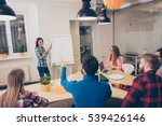 young happy woman presenting... | Shutterstock . vector #539426146