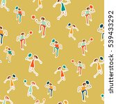 seamless pattern with figures... | Shutterstock .eps vector #539433292