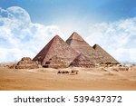 pyramids egypt giza all ... | Shutterstock . vector #539437372