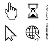 cursor icons  vector set | Shutterstock .eps vector #539446072
