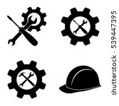 settings and repair icons ... | Shutterstock .eps vector #539447395