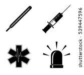 hospital icons  vector set | Shutterstock .eps vector #539447596