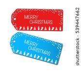 christmas sale tags... | Shutterstock .eps vector #539447662