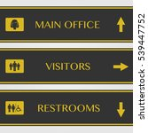office and restroom signs... | Shutterstock .eps vector #539447752