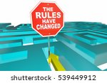 the rules have changed puzzle... | Shutterstock . vector #539449912