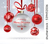 christmas background with a... | Shutterstock .eps vector #539452036