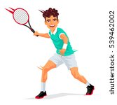 cool tennis player with a... | Shutterstock .eps vector #539462002