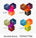 set of abstract geometric... | Shutterstock .eps vector #539467786