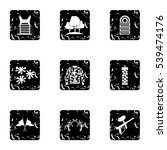 shooting paintball icons set.... | Shutterstock .eps vector #539474176