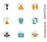 construction icons set. flat... | Shutterstock .eps vector #539477215