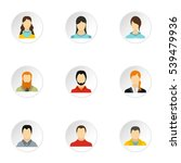 different avatar icons set.... | Shutterstock .eps vector #539479936