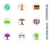 type of furniture icons set.... | Shutterstock .eps vector #539483416