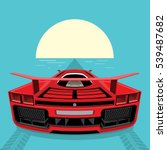 sports car red color rushes to... | Shutterstock .eps vector #539487682