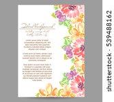 vintage delicate invitation... | Shutterstock . vector #539488162
