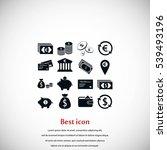 finance icons vector  flat... | Shutterstock .eps vector #539493196