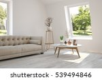 white room with sofa and green... | Shutterstock . vector #539494846