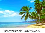 beautiful sunny beach. view of... | Shutterstock . vector #539496202