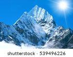 mountain peak everest. highest...   Shutterstock . vector #539496226